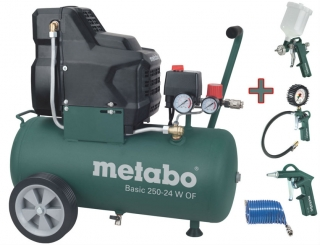 Bezolejový kompresor METABO Basic 250-24 W OF